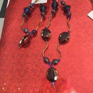 Artisan Costume Necklace and Bracelet Set - 122